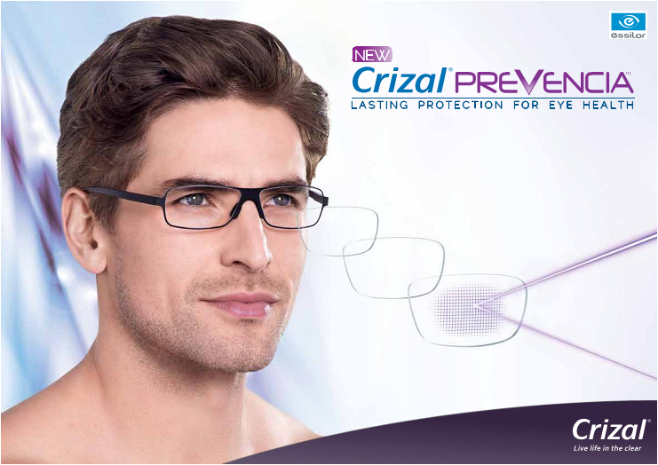 Crizal Prevencia – Block out the bad light & let in the good