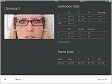 The captured data is immediately transferred to ZEISS i.Com mobile for further data processing to common PMS and lens ordering
